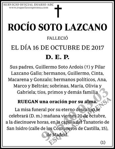 Rocío Soto Lazcano